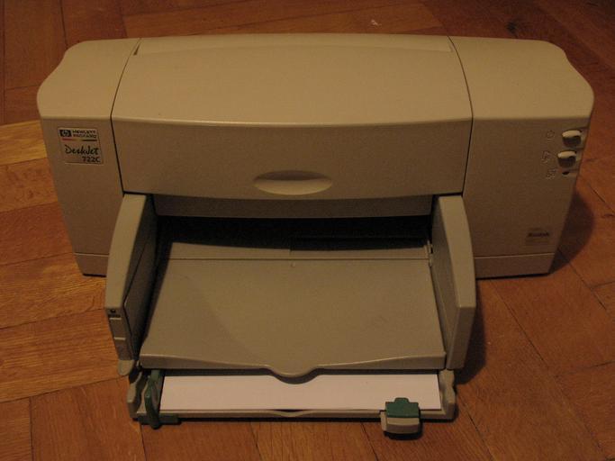 výstup tiskárny