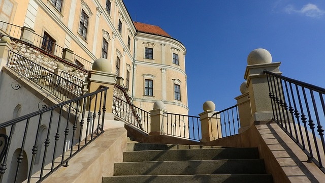 schody k zámku Mikulov