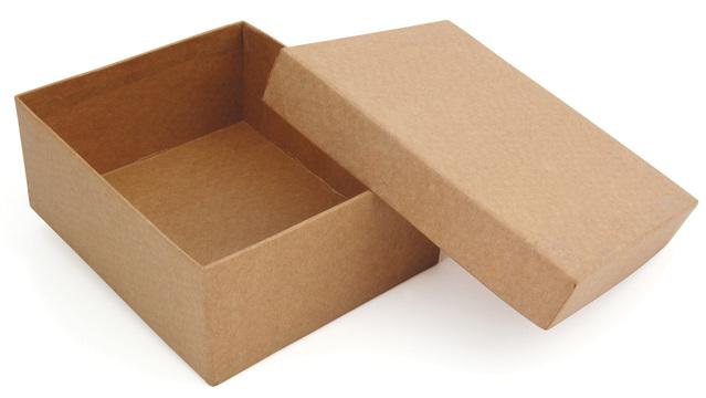 papírová krabice s víkem