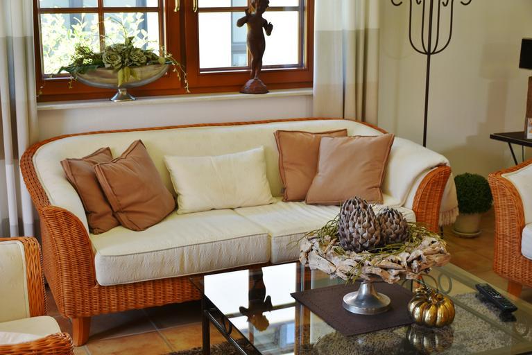 dekorace v obývacím pokoji