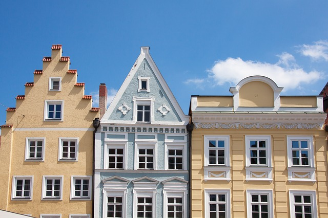 renesanční fasády měšťanských domů